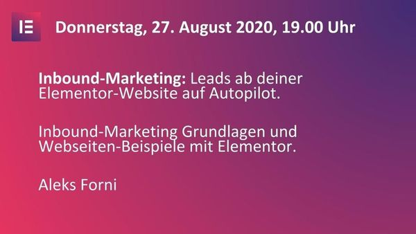 Leads auf Autopilot - Inbound-Marketing mit Elementor - event image