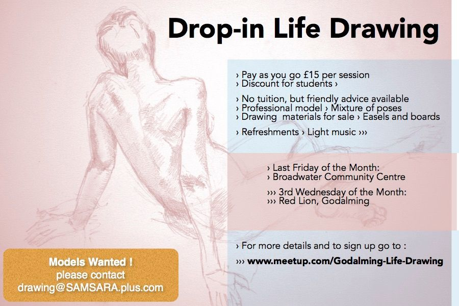 Drop-in Life Drawing (postponed +1 week)