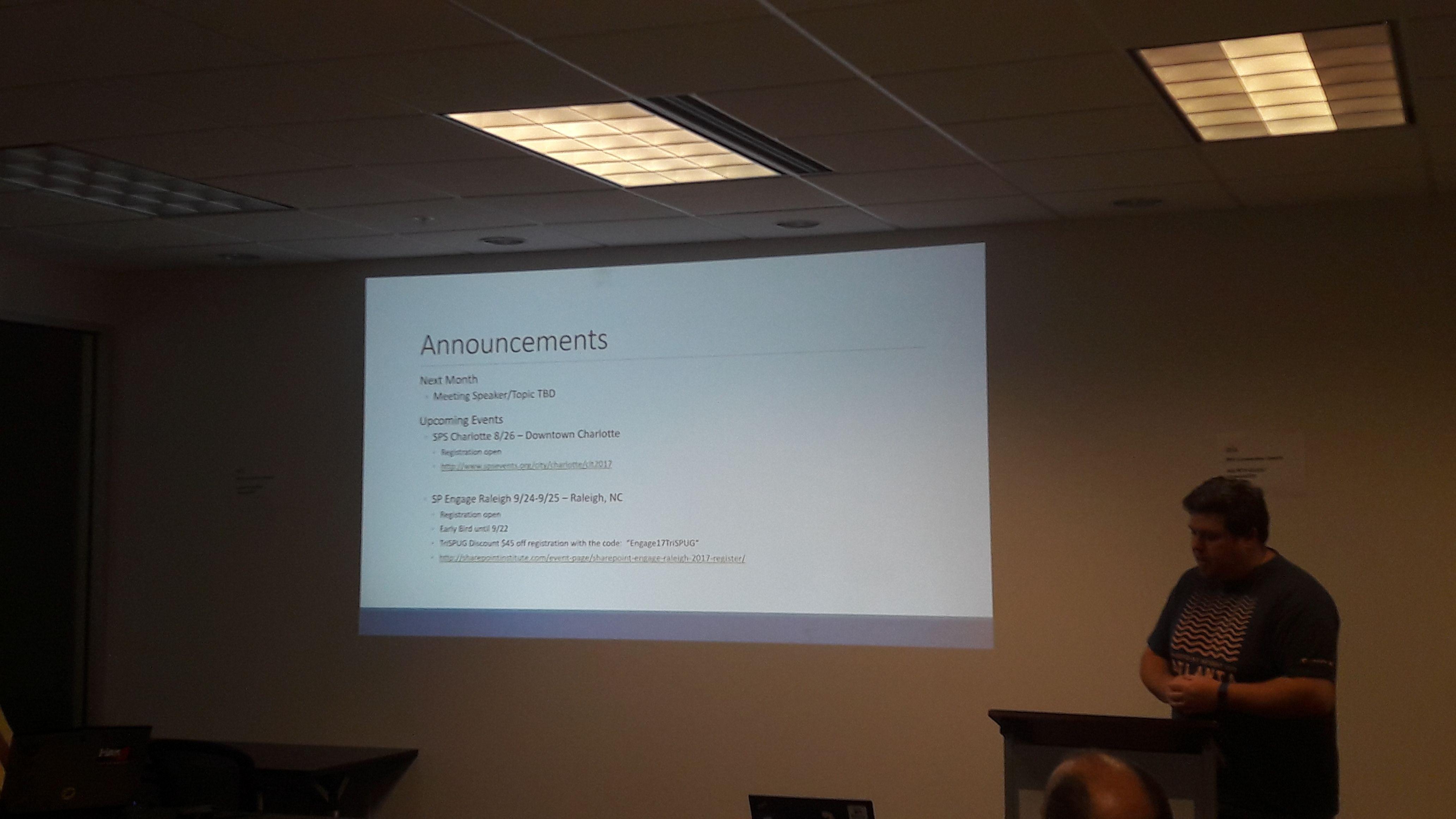 Photos - Triangle SharePoint User Group (Cary, NC) | Meetup
