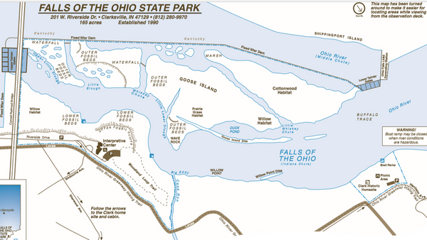 Falls Of The Ohio Map.Outer Fossil Bed Hike Hosted By Falls Of The Ohio State Park Meetup