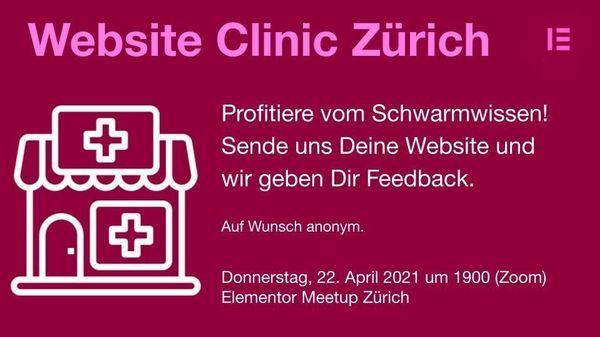 Website-Clinic - Wir (alle) machen (D)eine Website besser - event image