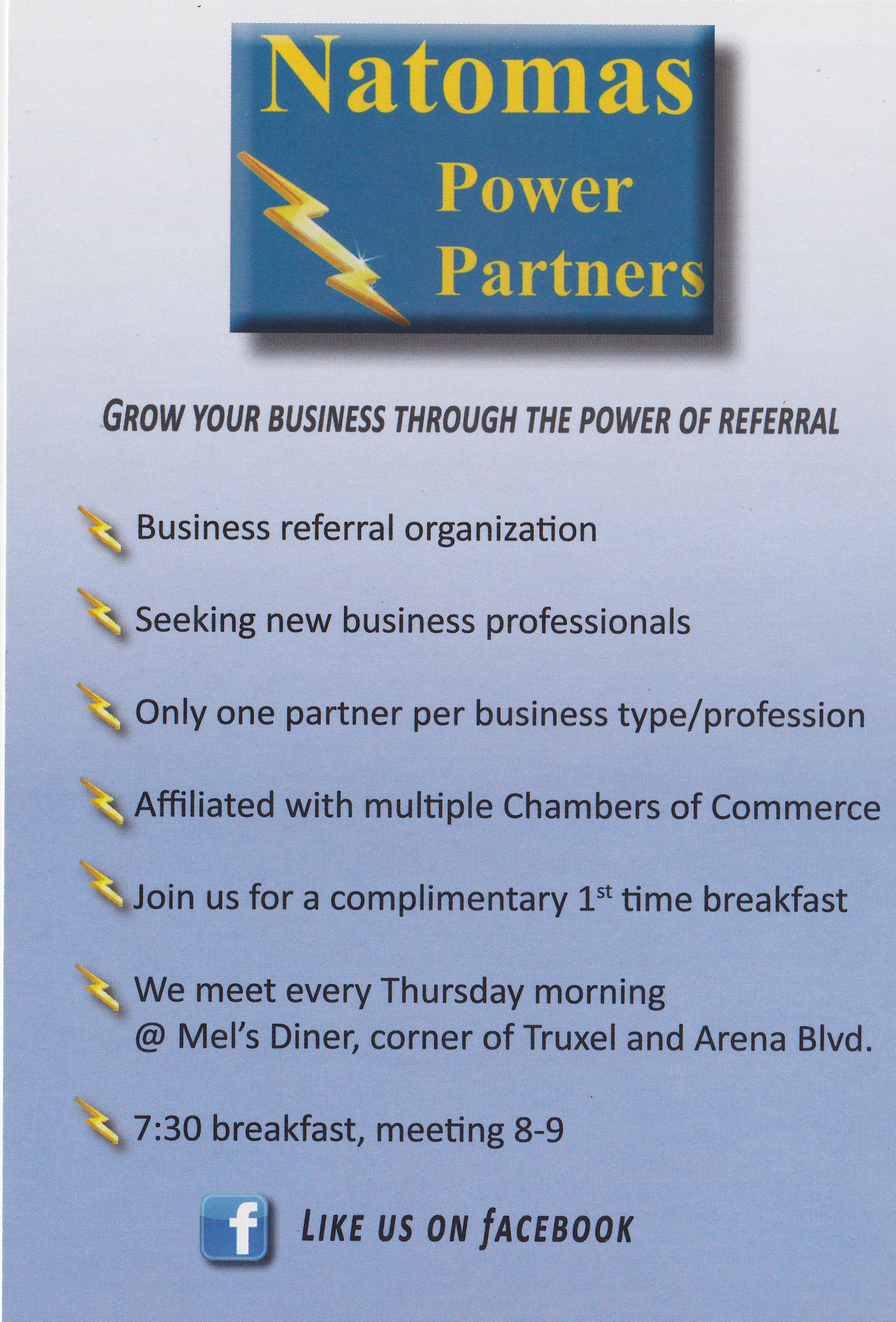 Natomas Power Partners Business Networking Referral Group