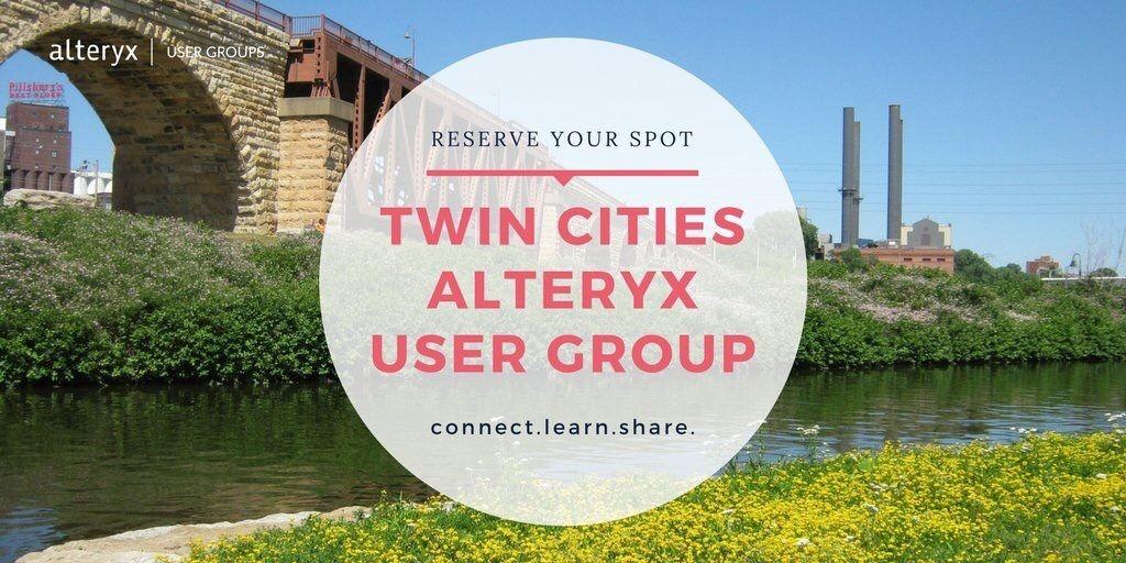 Twin Cities Alteryx User Group (TCAUG)