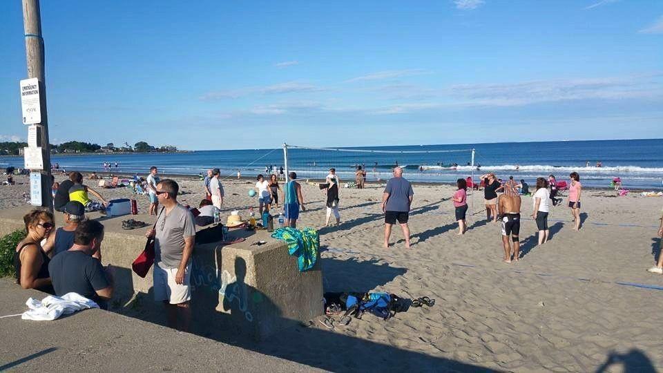 A Little Beach Bump Volleyball