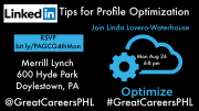 Photo for LinkedIn Tips 4 Profile Optimization Linda Lovero-Waterhouse bit.ly/PAGCG4thMon August 26 2019
