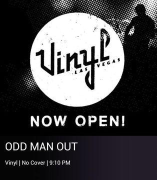 Odd Man Out Band Vinyl Inside Hard Rock Casino