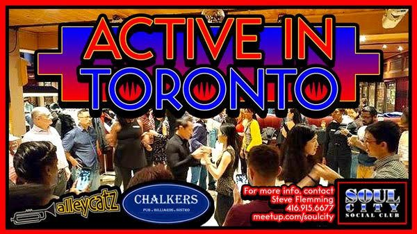 **Active in Toronto** (New Events Every Month)