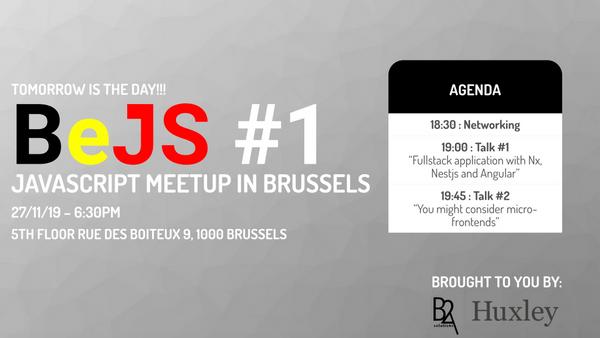 BeJS #1 : Javascript meetup in Brussels