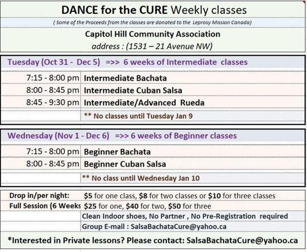 Intermediate  Bachata,Cuban Salsa & Rueda (Week 3 of 6)