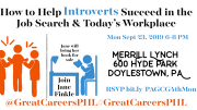 Photo for How to Help Introverts Succeed in Job Search & Workplace RSVP bit.ly/PAGCG4thMon September 23 2019