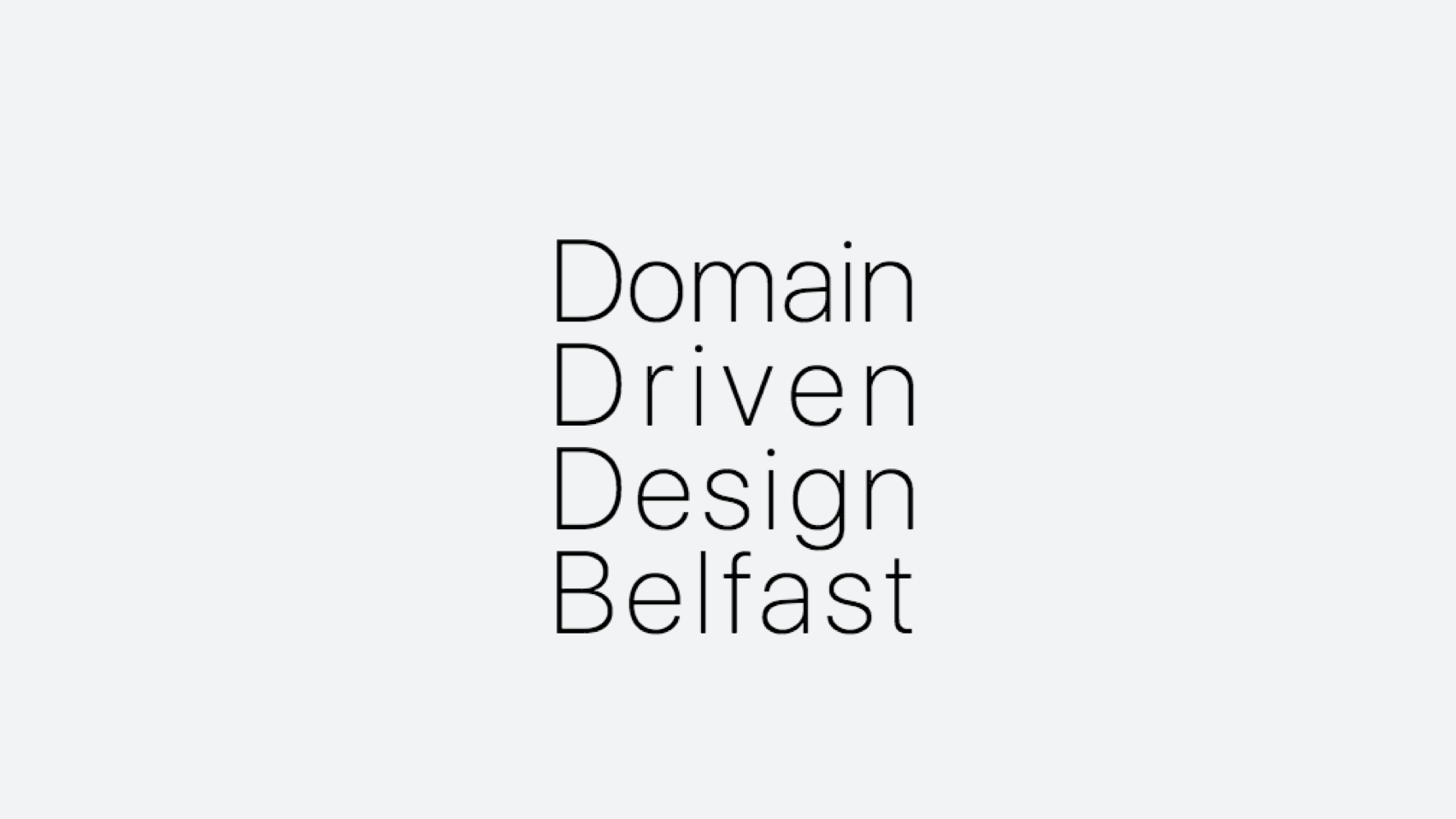 Domain Driven Design Belfast