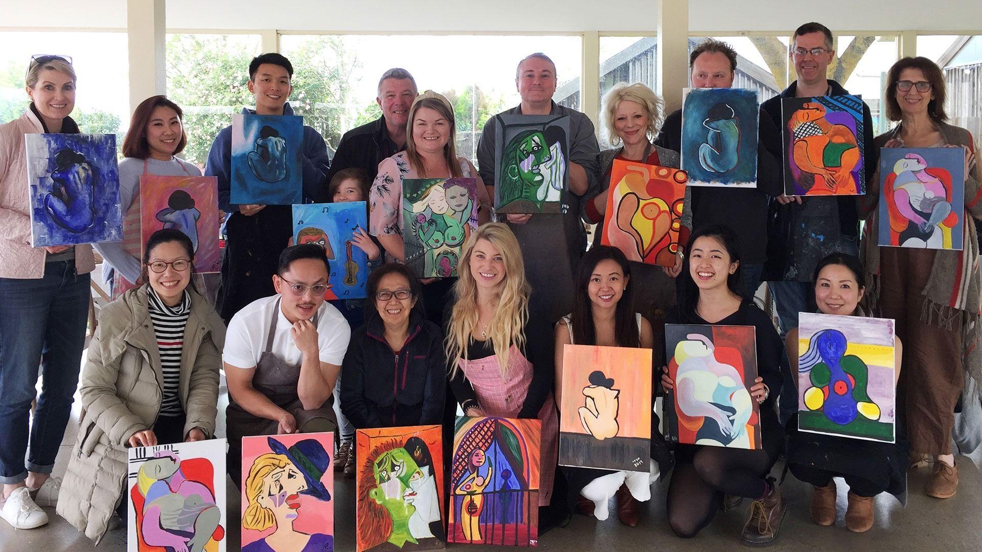Melbourne Paint and Sip / Art Meetup - Classe Petit