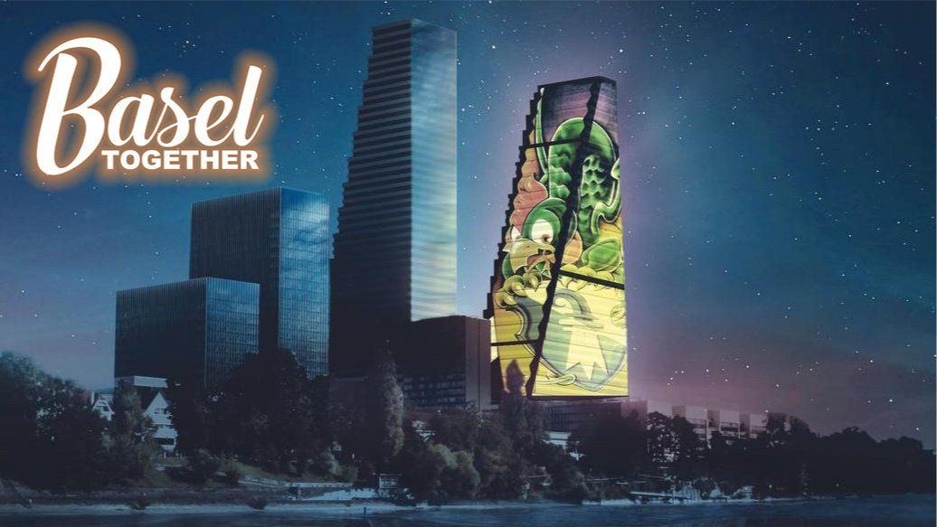 Watching Roche Tower Light Projection with Music