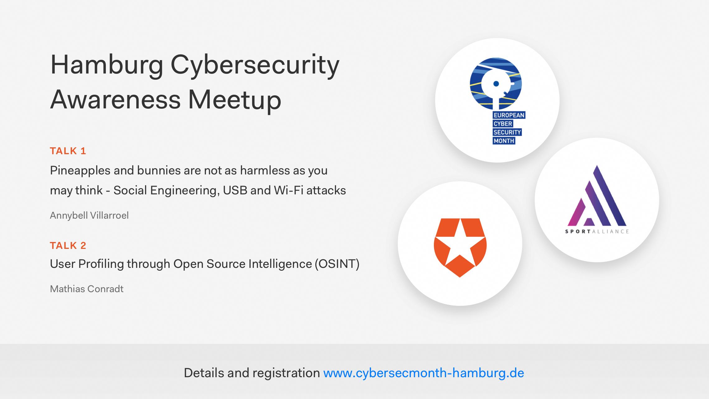 Hamburg Cybersecurity Awareness Month 2019