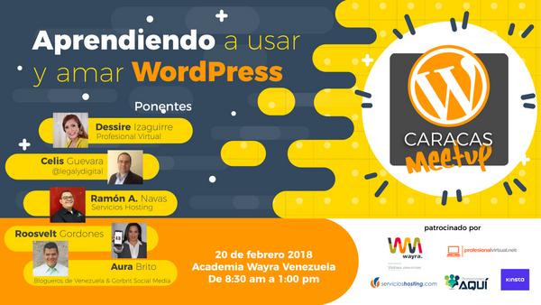 Resultado de imagen para Primer Meetup Oficial de WordPress en Caracas