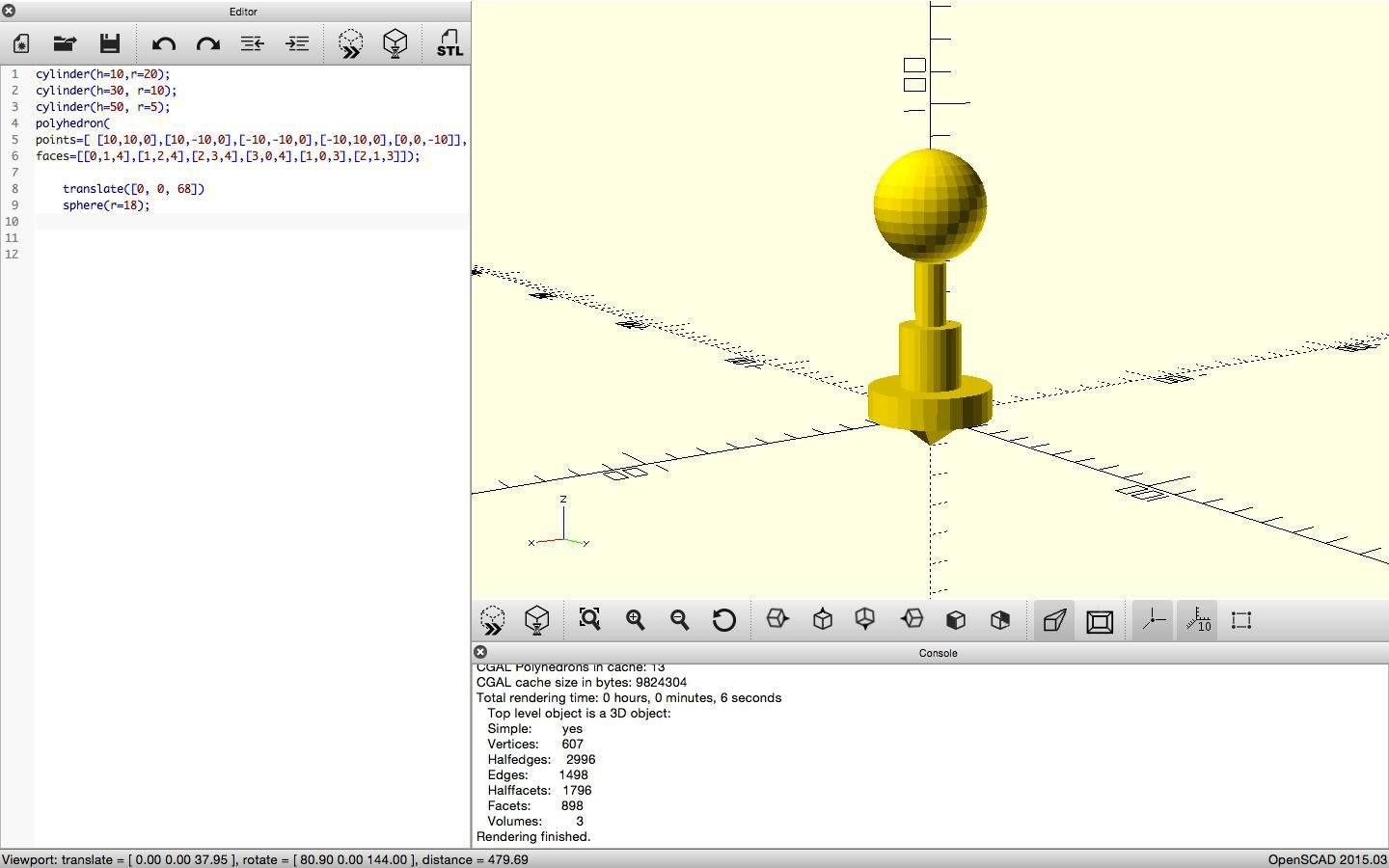 openSCAD 3d CAD Design Program - Phoenix Robotics and
