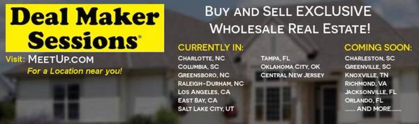 Jacksonville Real Estate Deal Maker Sessions ™ (Jacksonville, FL