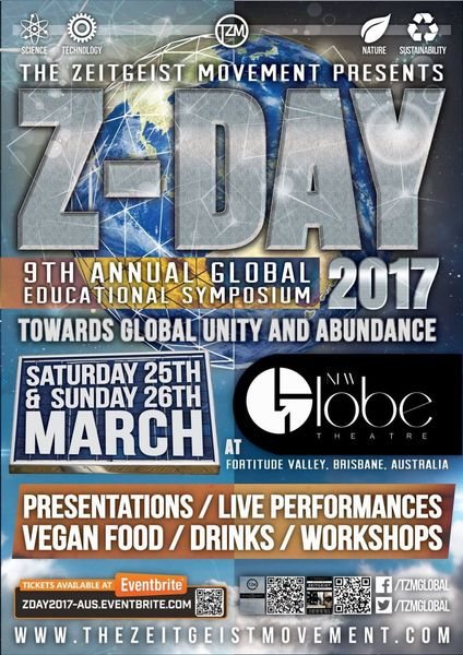 ZDay presentation     Price of Zero Transition to an RBE    Zeitgeist     Zeitgeist the Movie is NOT The Zeitgeist Movement