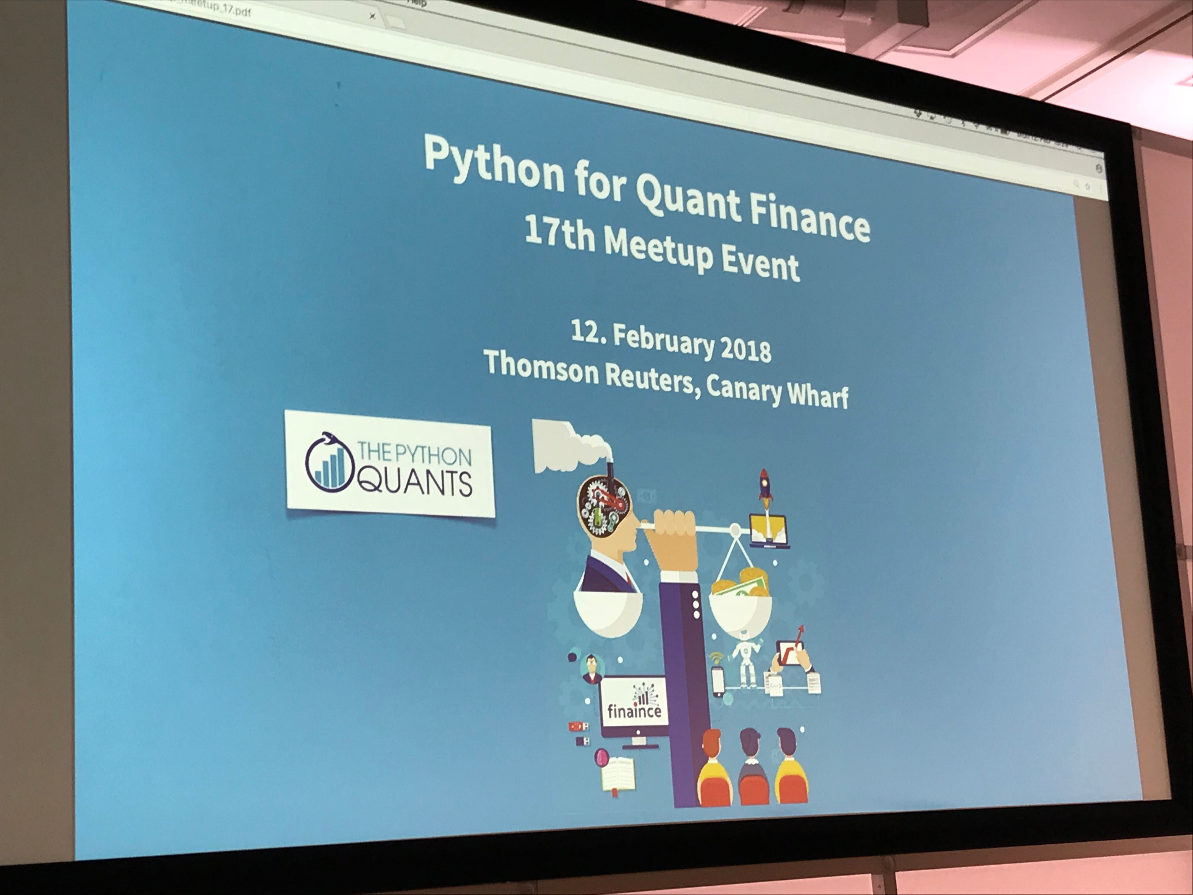 Python for Quant Finance