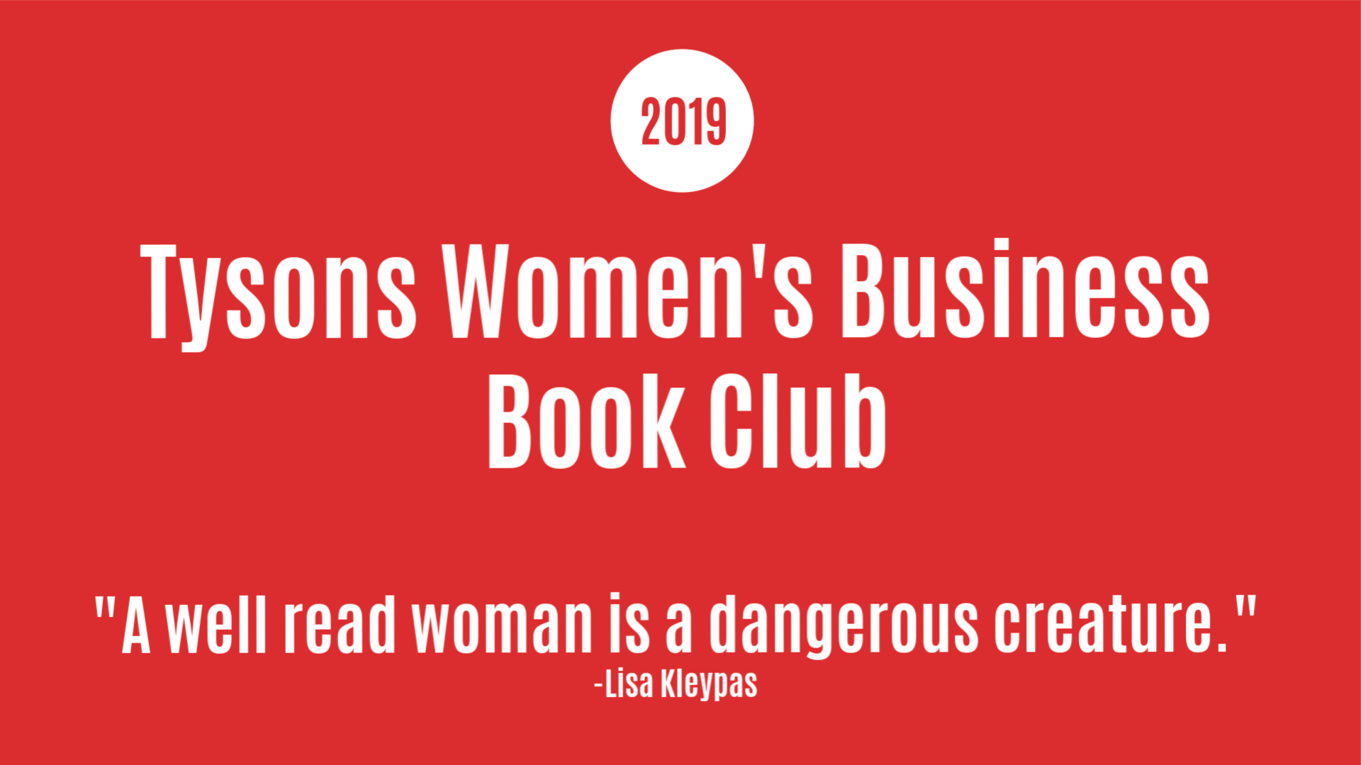 Tysons Women's Business Book Club