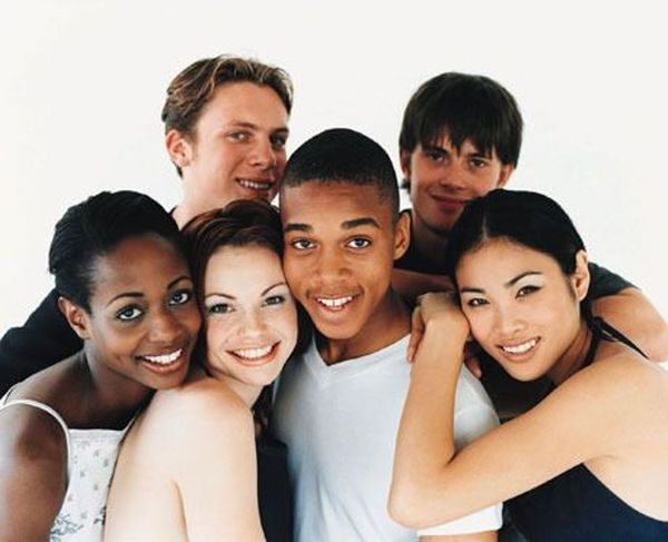 Interracial group english