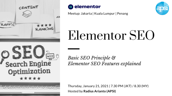 Basic Principle of SEO & Elementor SEO Features explained - event image