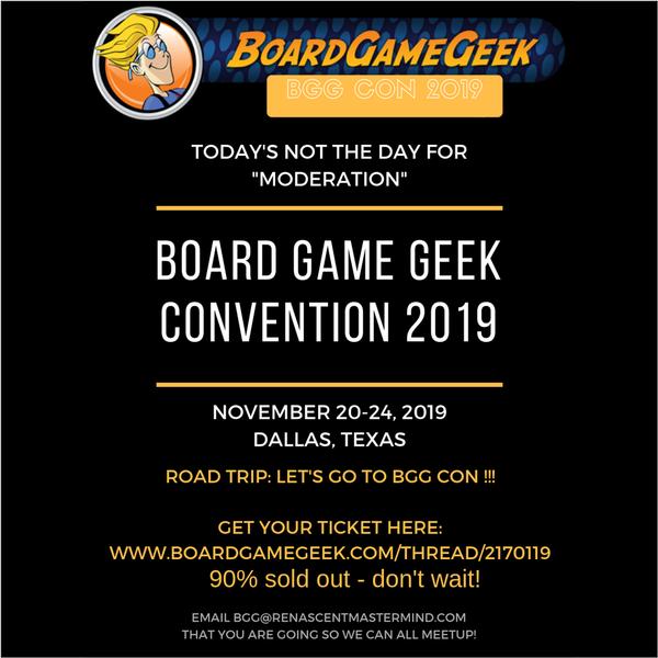 Board Game Geek Con 2019 Road Trip Tickets, Wed, Nov 20