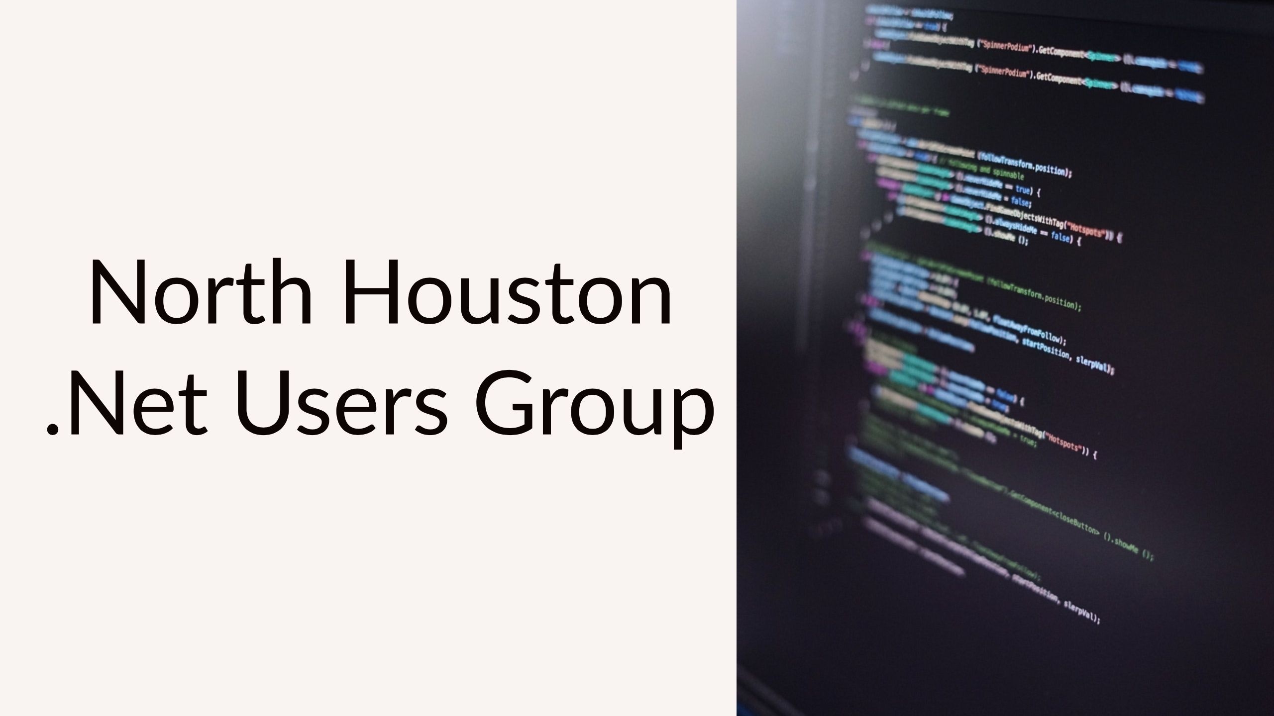 North Houston .Net Users Group