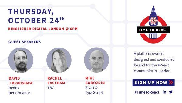 Time To React #9 | Meetup