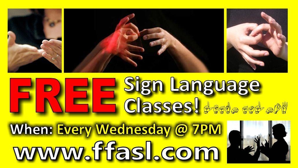 free sign language classes near me