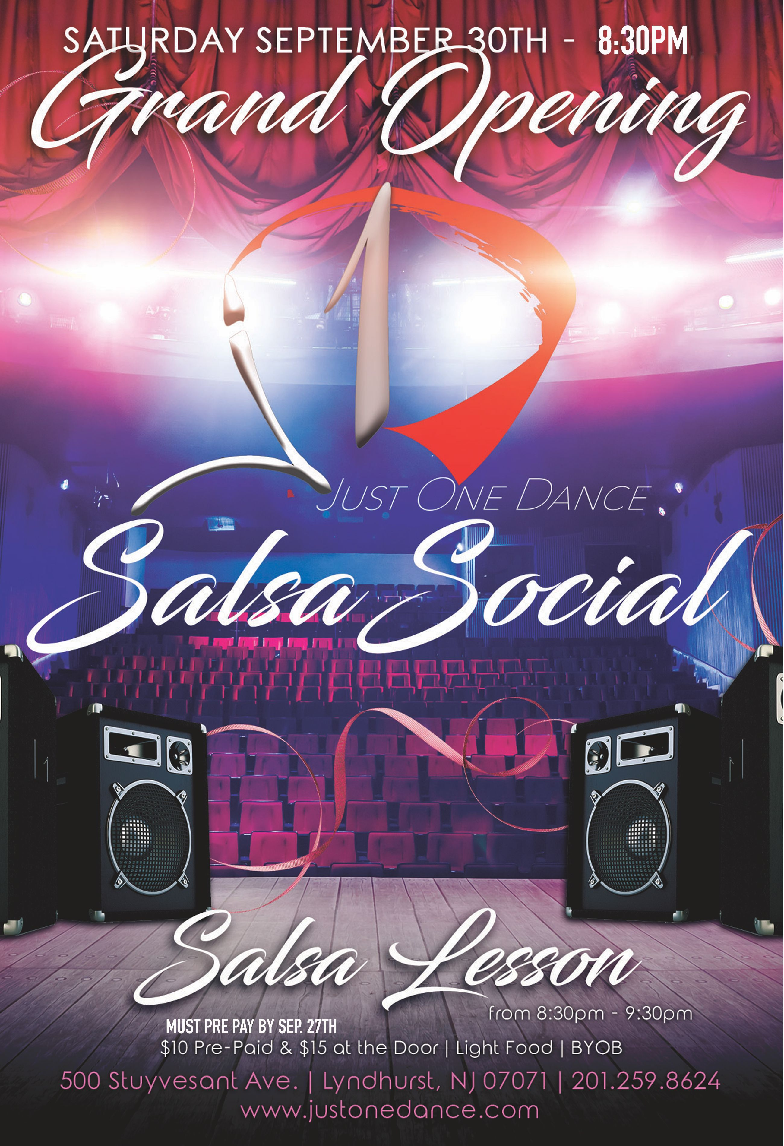 Learn how to salsa! 3 different levels