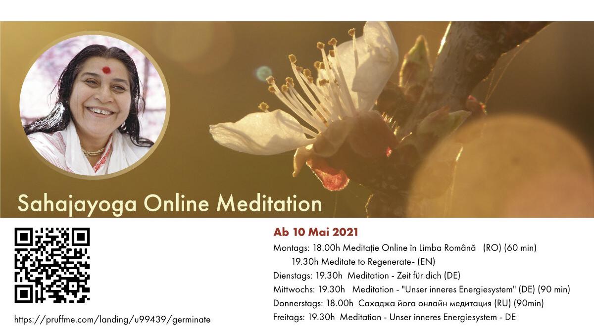 Online: Сахаджa йога онлайн медитация - Meditation auf Russisch (RU)