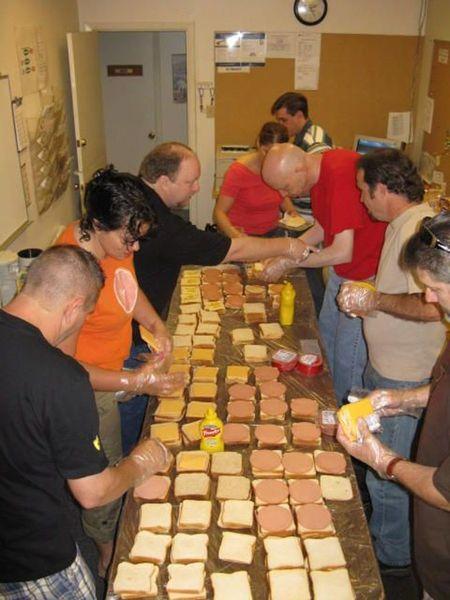 Assembly line sandwich