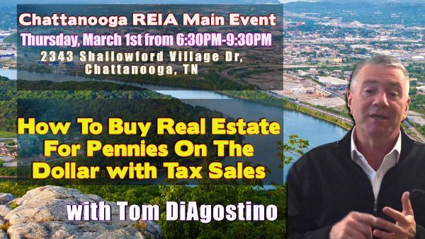 buying real estate for pennies on the dollar with tax sales at chattanooga reia meetup. Black Bedroom Furniture Sets. Home Design Ideas