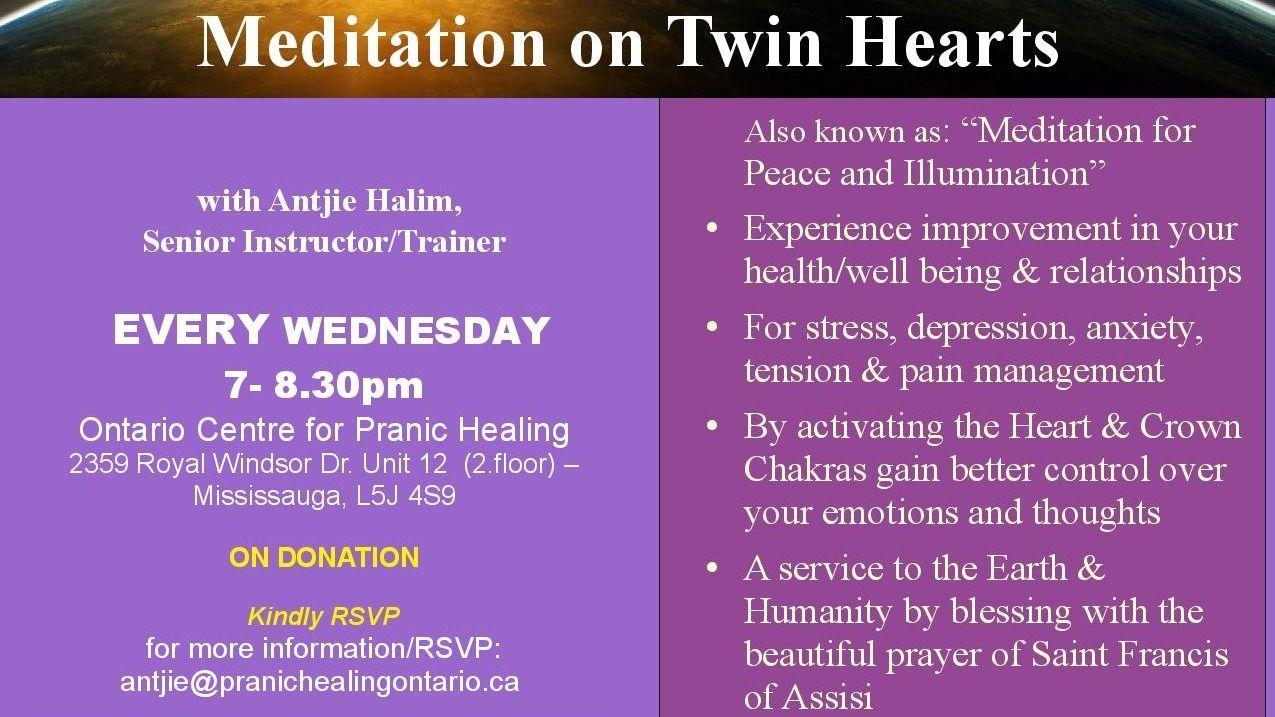 Twin Hearts Meditation and Pranic Healing
