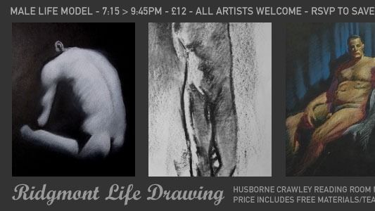 Life Drawing for all abilities with male model Tim
