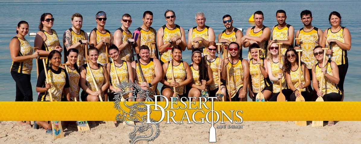 Desert Dragons Abu Dhabi (Dragon Boat Paddling)