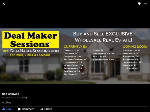 New England ReaL Estate Deal Maker Sessions™ (Randolph, MA)   Meetup