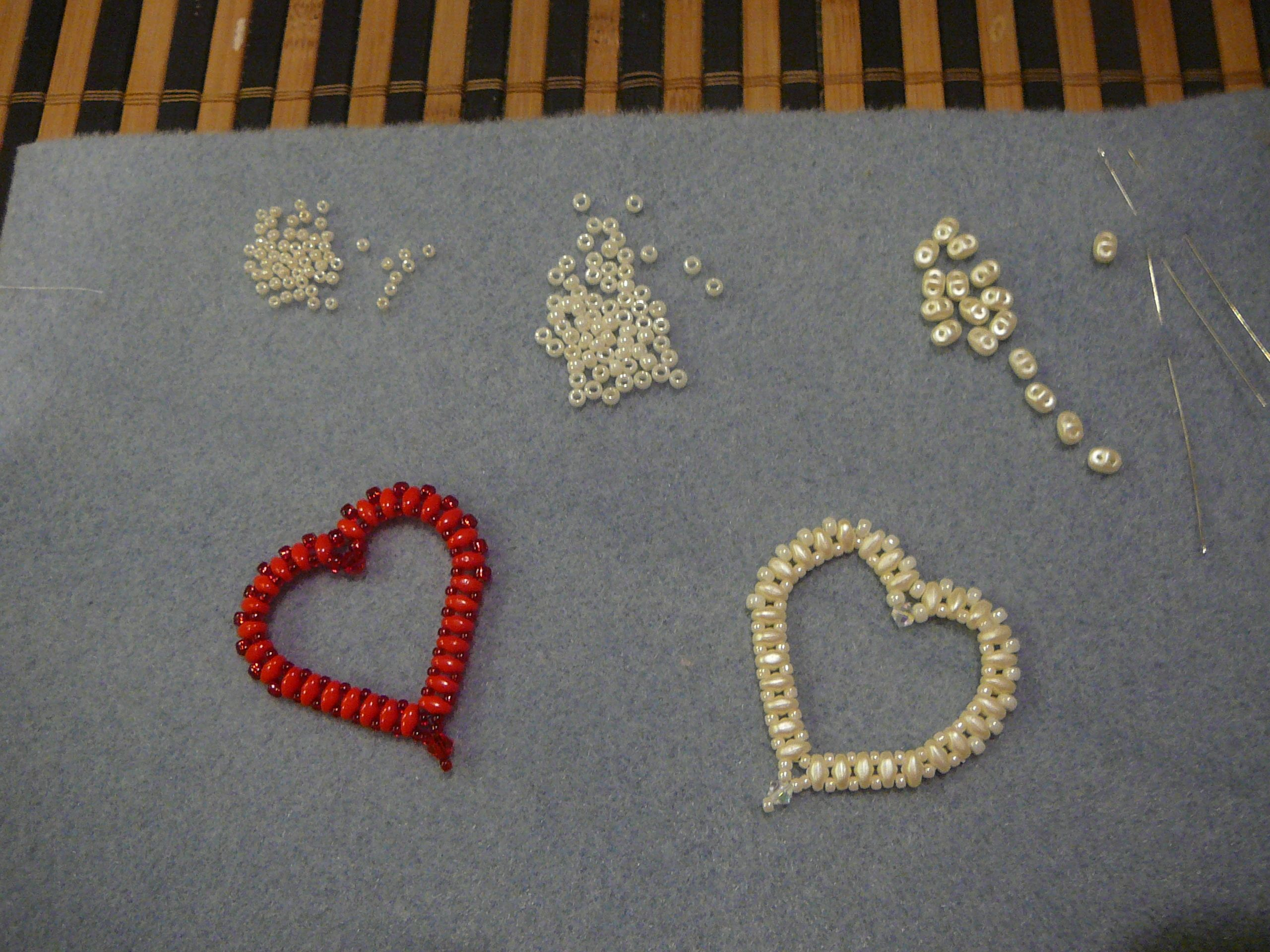 Shaped Bead Work   Heart Shaped