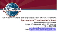 Boroondara Toastmasters C.