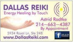 Dallas Reiki LLC Astrid R.