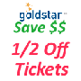 Goldstar 1/2 Price Tickets - FREE Signup