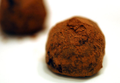 Vegan Chocolate Candied Orange Truffles