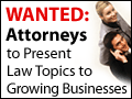 Law Pros--Become a Speaker
